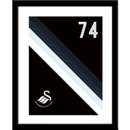 Personalised Swansea City Stripe Framed Print