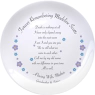 "Personalised Forget Me Not 8"" Bone China Coupe Ceramic Plate"