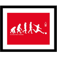 Personalised Nottingham Forest FC Evolution Print