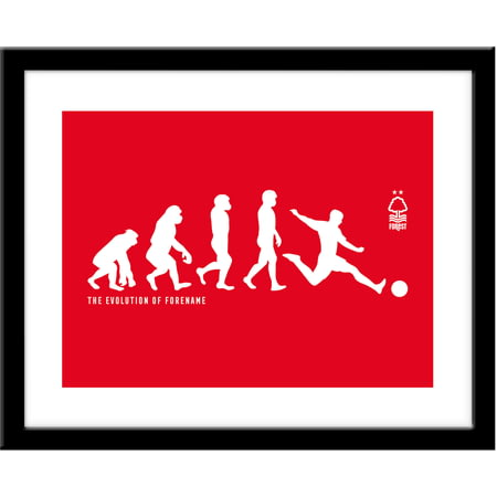 Personalised Nottingham Forest FC Evolution Framed Print