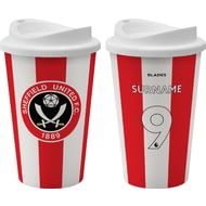 Personalised Sheffield United FC Back Of Shirt 350ml Reusable Tea / Coffee Cup