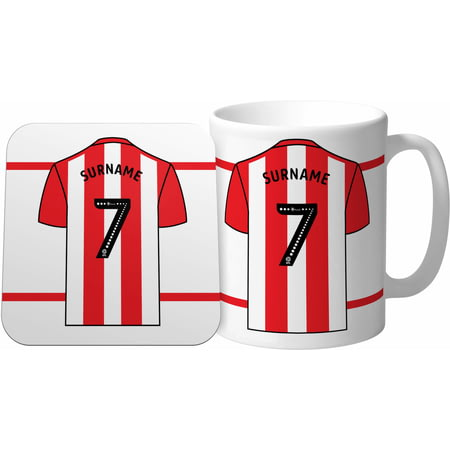 Personalised Sheffield United FC Shirt Mug & Coaster Set