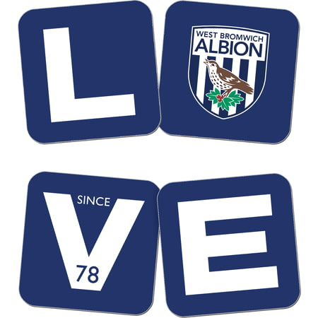 Personalised West Bromwich Albion Love Coasters (x4)