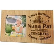 Personalised Birthday Celebration Panel Photo Frame