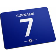 Personalised Chelsea FC Player Shirt Mouse Mat