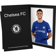 Personalised Chelsea FC Morata Autograph Photo Folder
