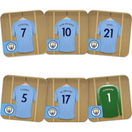 Personalised Manchester City FC Goalkeeper Dressing Room Coasters