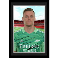Personalised Arsenal FC Leno autograph Photo Framed