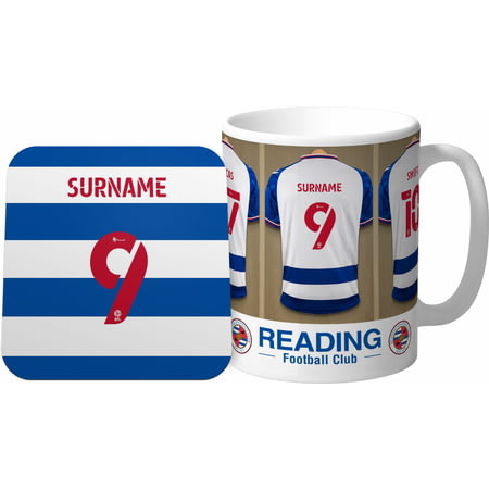 Personalised Reading FC Dressing Room Shirts Mug & Coaster Set