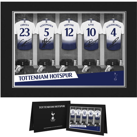 Personalised Tottenham Hotspur FC 9x6 Dressing Room Shirts Photo Folder