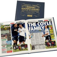 Personalised Bolton Football Newspaper Book - A3 Leather Cover
