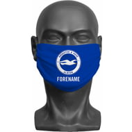 Personalised Brighton & Hove Albion FC Crest Adult Face Mask