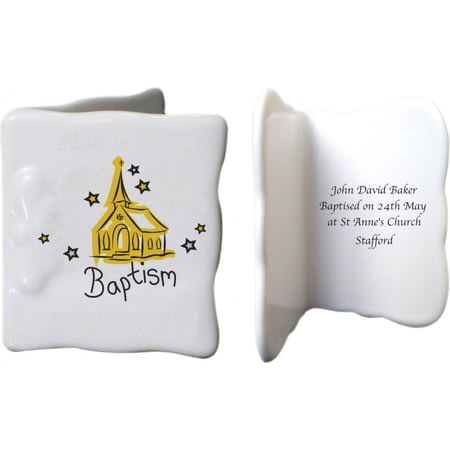 Personalised Church Baptism Ceramic Message Card