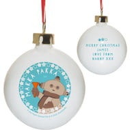 Personalised In The Night Garden Makka Pakka Snowtime Christmas Bauble
