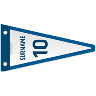 Personalised Leeds United FC Shirt Pennant Flag