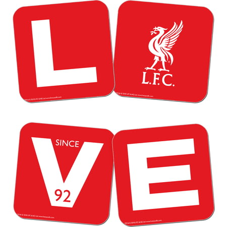 Personalised Liverpool FC Love Coasters (x4)