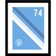 Personalised Manchester City FC Stripe Framed Print