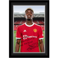 Personalised Manchester United FC Pogba Autograph Photo Framed