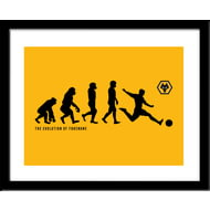 Personalised Wolves FC Evolution Framed Print