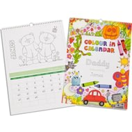 Personalised Childs Colour-in Calendar - Any Start Date