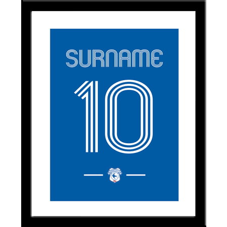 Personalised Cardiff City Retro Shirt Framed Print