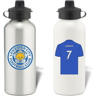 Personalised Leicester City FC Shirt Aluminium Sports Water Bottle