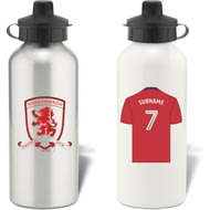 Personalised Middlesbrough FC Shirt Aluminium Sports Water Bottle