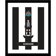 Personalised Newcastle United Player Figure Framed Print