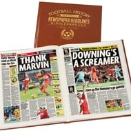 Personalised Middlesbrough Football Newspaper Book - Leatherette Cover