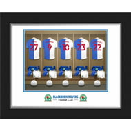 Personalised Blackburn Rovers FC Dressing Room Shirts Photo Folder