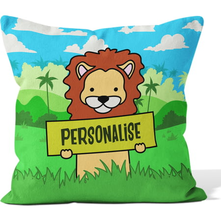 Personalised Kids Lion Cushion