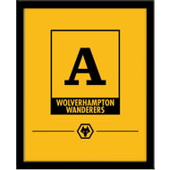 Personalised Wolves Monogram 290x360 Framed Print
