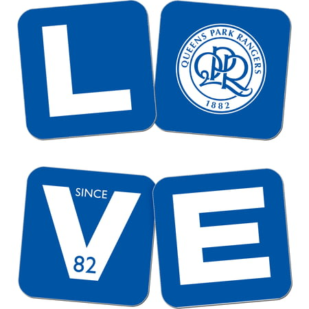 Personalised Queens Park Rangers Love Coasters (x4)