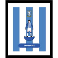 Personalised Sheffield Wednesday Player Figure Framed Print
