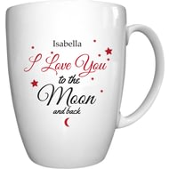 Personalised To The Moon & Back Conical Ceramic Mug