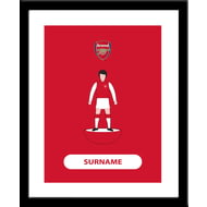 Personalised Arsenal FC Player Figure Framed Print