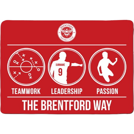 Personalised Brentford FC Way Rubber Backed Large Floor Mat - 60x90cm