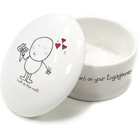 Personalised Chilli & Bubble's Engagement Trinket Box