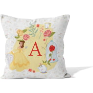 Personalised Disney Princess Belle Initial Cushion - 45x45cm