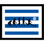 Personalised Queens Park Rangers FC Evolution Framed Print
