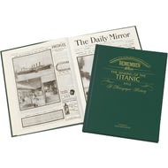 Personalised Titanic History Newspaper Book