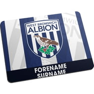 Personalised West Bromwich Albion FC Bold Crest Mouse Mat