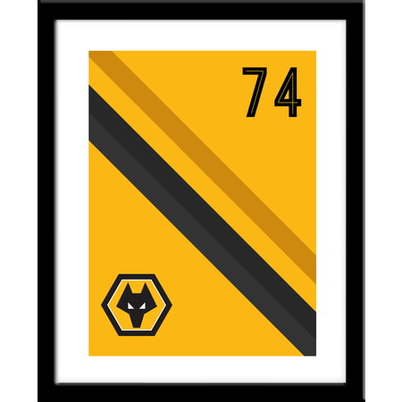 Personalised Wolves FC Stripe Print