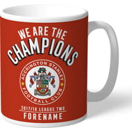 Personalised Accrington Stanley FC Champions Mug