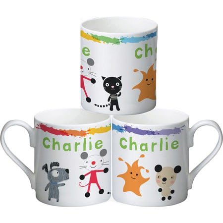 Personalised Arty Mouse Scatter Simple Character Mug