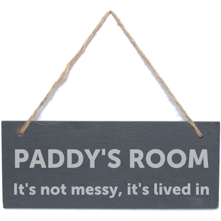 Personalised Bold Design Hanging Slate Sign/Plaque
