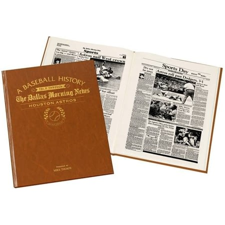 Personalised Houston Astros Baseball Newspaper Book