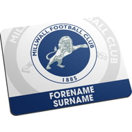 Personalised Millwall Bold Crest Mouse Mat