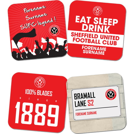 Personalised Sheffield United FC Coasters