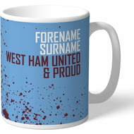 Personalised West Ham United FC Proud Mug